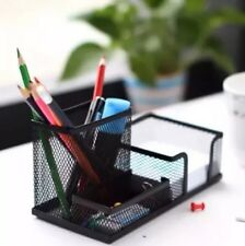 Metal Desktop Holder Office Storage Box Pencil Pen Desk Mesh Organizer Black