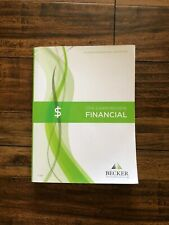 *VERY GOOD CONDITION* Becker CPA Exam Review FINANCIAL V3.4 Textbook