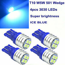 4x 4-SMD LED Bulbs For Ford Chevy T10 W5W Sidelight License Plate bulb Ice blue