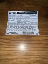 1985 Toyota Pickup Truck//4runner Emissions Decal Repro Sticker Fed Can 22re #68
