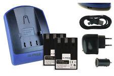 2 Batteries + Chargeur USB NB-3L pour Canon PowerShot SD500, SD550