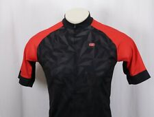 SUGOI Evolution Zap Black Red Gray Full-Zip Bike Cycling Jersey -Men's Medium