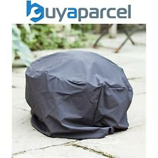 La Hacienda 60542 Premium Fire Pit Basket Bowl Cover Grey Outdoor Heater