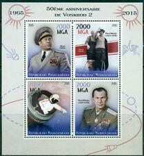 Soviet space Raumfahrt Voskhod 2 Leonov Madagascar MNH stamp set 4val + ss