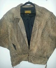 MICHEAL JACKSON THRILLER STYLE FLORENCE AUSTRALIA LEATHER 80's JACKET BROWN