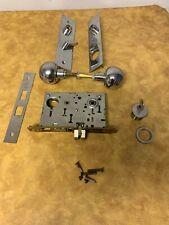 Vintage Yale 8722 Series Mortise Heavy Duty Industrial Lockset Brass Deadbolt RH