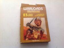 Warlords Atari 2600 Game Cartridge Cx2610 With Manual
