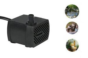 Mini pompa sommergibile per acquario 4W 220L/h fontana laghetto 3,5x3,5 PF-228