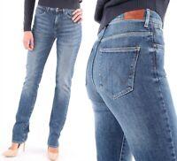 Wrangler Damen Jeanshose Body Bespoke High Rise Slim Ray Of Light W26 - W29