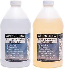 Clear Epoxy Resin Casting Coating Kit Self Leveling Degassing Odor Free 1 Gallon