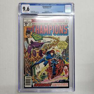 Champions # 14 CGC 9.6 White Pages 1st App. Swarm Marvel Comics