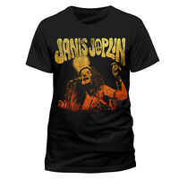 Official Janis Joplin T Shirt Peace (Of My Heart) Photo Black NEW Large