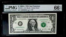 GEM 2003A $1 SUPER FANCY SER# 60000003 - PMG #65EPQ GEM NEW - BEAUTIFUL