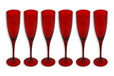 Christmas Champagne Glasses Red Glassware Champagne Flutes Xmas Tableware Party