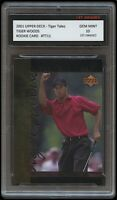 TIGER WOODS 2001 UPPER DECK UD PGA USA/GOLF/GOLFER 1ST GRADED 10 ROOKIE CARD RC