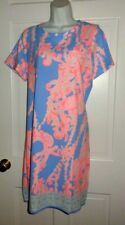 NWT LILLY PULITZER BLUE PERI GO WITH THE FLOW ENGINEERED DECLAN DRESS XL