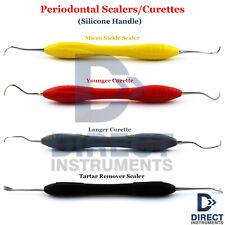 Silicone Handle Dental Periodontal Curettes Sickle Scaler Tartar Remover Plaque