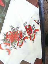 4 CHRISTMAS GARLAND NAPKINS for Stamped Embroidery