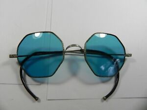 Willson Retro 1920's Octagonal Blue Sunglasses