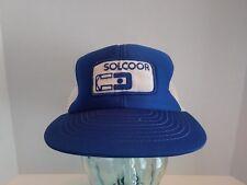 Vtg Solcoor Logo Patch SnapBack Trucker Hat Cap Farm Ag Farmer