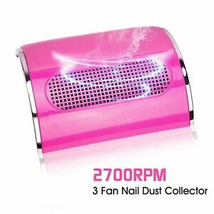 Nail Dust Suction Collector Powerful 3 Fan With 2 Dust Collecting Bags Vacuum