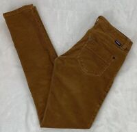 Patagonia Corduroy Skinny Jeans Chestnut Brown Organic Cotton Stretch Size 26