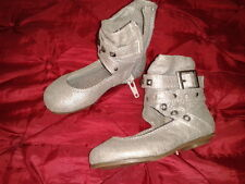 NEXT SILVER SHOES WITH ANKLE STRAP DETAIL GIRLS INFANT SIZE 3