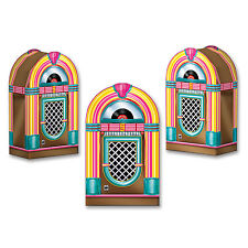 Pack of 3 Jukebox Favor Boxes - 1950's Rock & Roll Party Favors Decorations