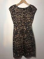 Ladies Leopard Print Dress Size 8 AX Paris New Look