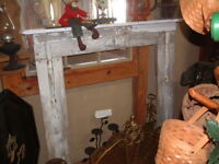 Antique Vintage 100 year old Wood Mantel Rustic Decor Shabby look 53 X 51