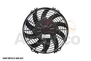 "Spal Axial Fan, VA07-BP12/C-58A, 24v (Pull) 9"" (225mm) - Genuine Product!"