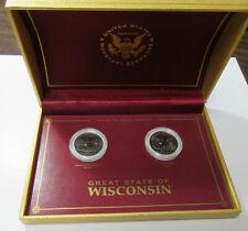 2004 P+D UNC Wisconsin Quarters (#611V)