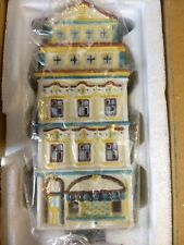 Partylite Cafe Prague Tealight House Candle Christmas Village P8274 Retired