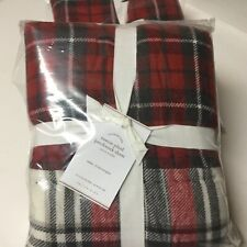 New Pottery Barn EASTON PLAID PATCHWORK Christmas Holiday SHAM - EURO Size