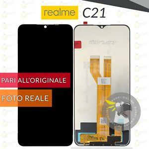 """DISPLAY REALME C21 LCD SCHERMO VETRO TOUCH SCREEN RMX3201 6,5"""""""