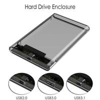 2.5'' HDD Case SATA USB 2.0/3.0/3.1 External Hard Disk Drive SSD Enclosure Box