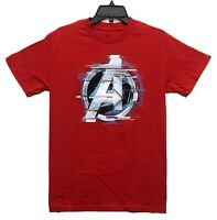 Marvel Men's Avengers Silver Logo Licensed T-Shirt Size Small Red New