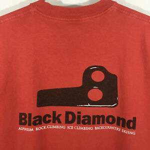 vintage Black Diamond -Knifeblade / Bugaboo Piton S/S t-shirt - Red - M's L VGUC