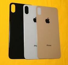 Big Hole for iPhone XS Max Back Glass Replacement Housing + Camera lens W Logo