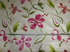 'Brindisi' Spring, Tropical Floral, Fryetts 100% Cotton Curtain Fabric, 1.8 mts