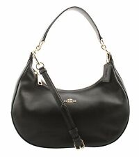 Coach Harley East/West Hobo In Pebble Leather Gold/Black F38250