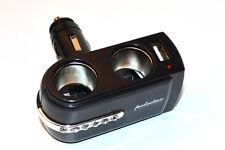 1x USB Zigarettenanzünder Auto 12V 2 Fach Splitter Steckdose Verteiler mit USB