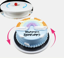 Plastic Cake Piping Turning Table Stands Decor Rotating Cake Stand Sugarcraft