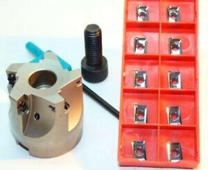 1x 90° Messerkopf D40-Z=5 +10x APKT 1003PDFR- AL (K05-K20) für ALU & NE-Metalle