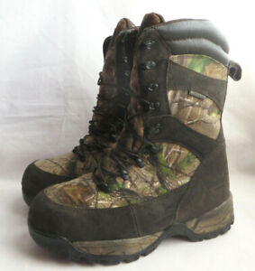 Guide Gear Hunting Boots Mens 11.5 EE 1200 Insulated Leather Camo Waterproof