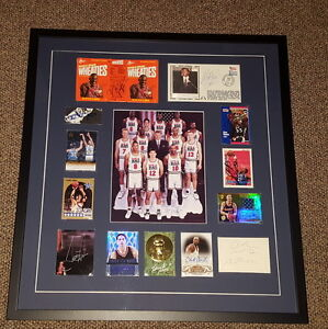 1992 USA Dream Team Signed Framed 23x25 Display JSA Michael Jordan Larry Bird ++