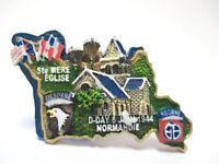 St. Mere Eglise Normandie D-Day 3D Poly Fridge Magnet Souvenir France