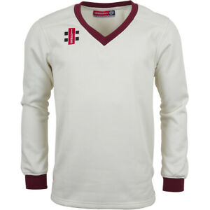 Clearance New Gray-Nicolls Cricket Velocity Sweater Maroon Trim [Various Sizes]
