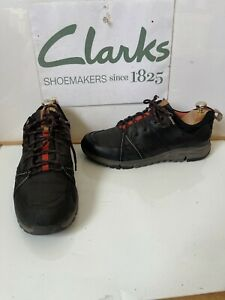 Clarks Tri Trek GORE-TEX Comfy Leather Flat Sneakers/Shoes Size UK 9 EU 43