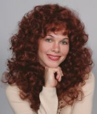 80'S WOMENS LONG MEDIUM LENGTH SOFT WAVY CURLS CURLY HAIR SKIN TOP WIG DELIHLA
